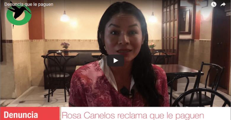Rosa Canelos reclama su premio