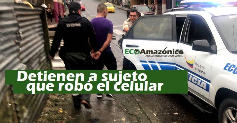 Policía detiene a una persona que robó un celular