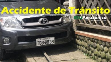 Accidente de tránsito en la calle Francisco de Orellana