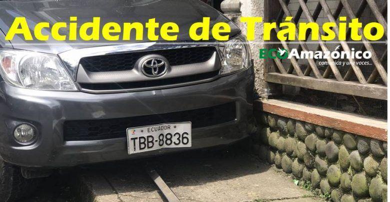 Accidente de tránsito en la calle Francisco de Orellana