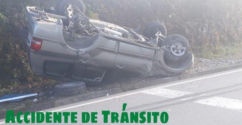 Fuerte accidente de transito cerca de la UEA