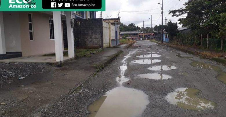 Reporte de vías dañadas en Puyo