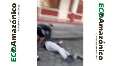 Fuerte accidente de una motociclista en Palora