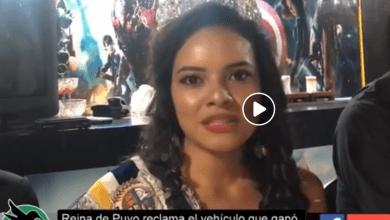 Reina de Puyo reclama el vehículo que le ofrecieron