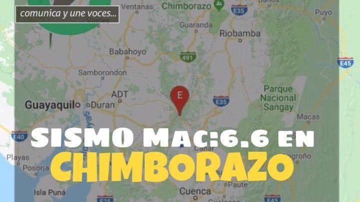 Sismo en Chimborazo