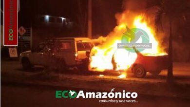 Accidente de transito e incendio en la Av. Alberto Zambrano