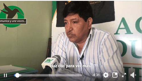 Montoya dice que las autoridades de Pastaza tienen miedo desalojar el Té Zulay