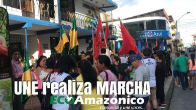 Nueva marcha de la UNE Pastaza