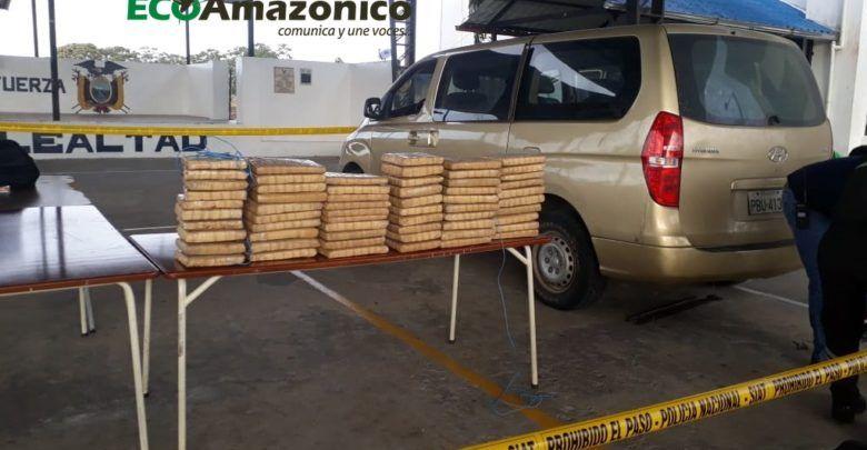 99 paquetes de droga decomisados en la vía la Tena