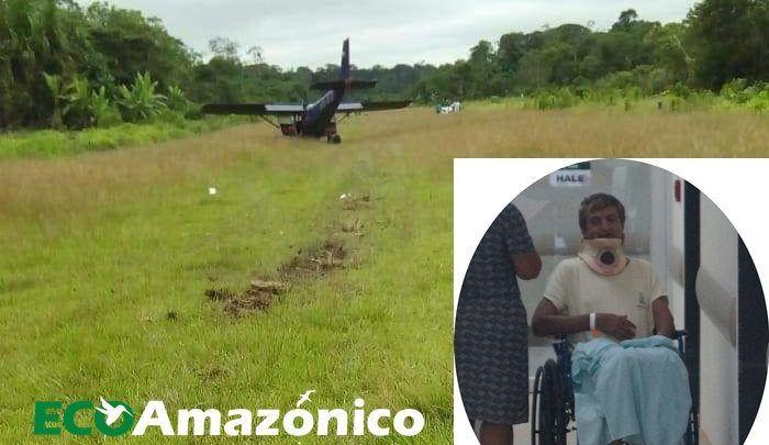 Dos heridos en accidente aéreo en Pastaza