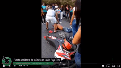 Accidente en la vía Puyo Tena