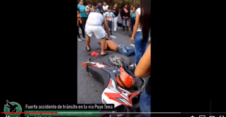 Accidente en la vía Puyo Tena