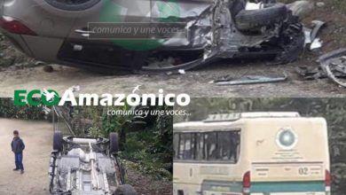 Accidente de tránsito en la vía al Tena