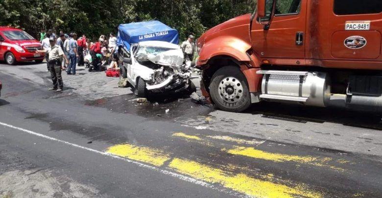 Fatal accidente en Baños deja varios heridos