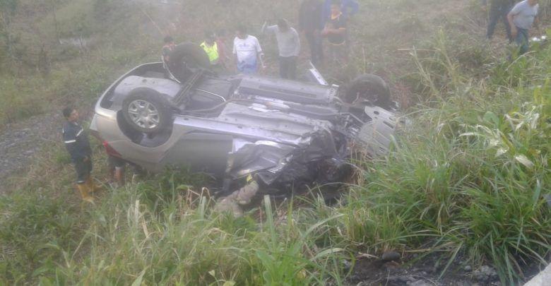 Accidente de Tránsito en la vía a la 10 de Agosto