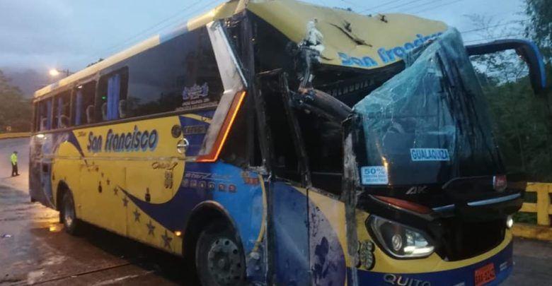 7 heridos en accidente de tránsito en la vía a Sucua