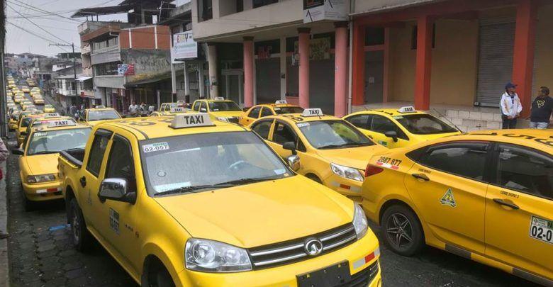 Paro de los taxistas en Puyo