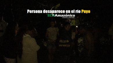 Una persona desaparecida en el río Puyo