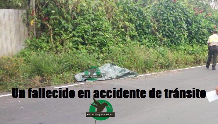 Un muerto en accidente de tránsito