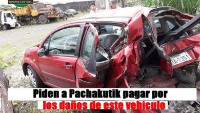 Piden a Pachakutik pagar por vehículo afectado en accidente