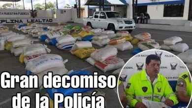 Policía incautó 7.5 toneladas de cloruro de calcio en Pastaza