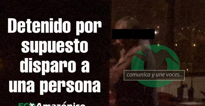 Capturan a posible autor de disparo de una arma de fuego en Teniente Hugo Ortiz