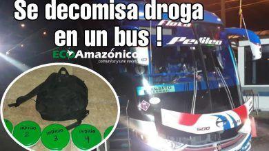Se decomisa en un bus 6.570 gramos de droga