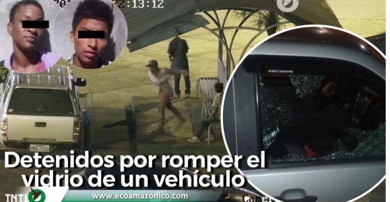 Capturan a personas por romper el vídeo de un vehículo y robar una cartera