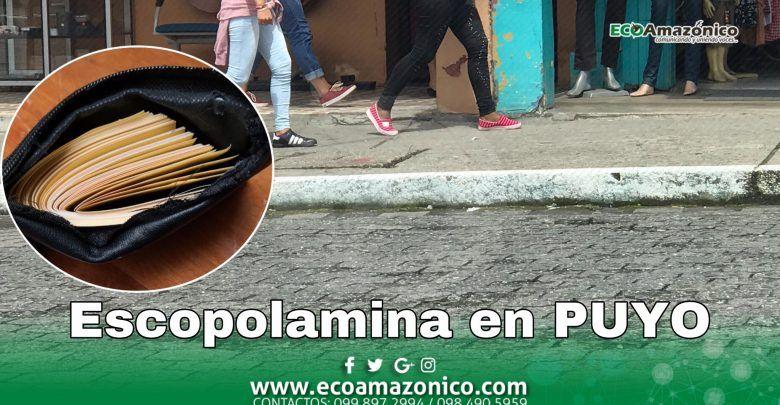Roban a una mujer por medio de la escopolamina en Puyo