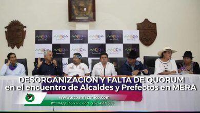 Desorganización y falta de quorum en el encuentro de Alcaldes y Prefectos en Mera