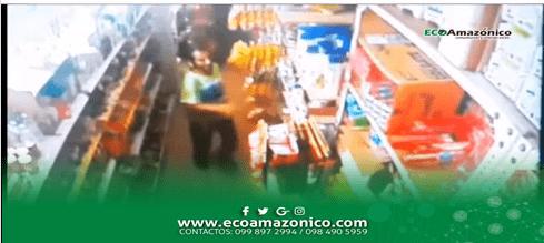 Cámaras captan a delincuente en local Comercial de Puyo