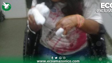 Mujer agredida a machetazos en Puyo la Tarqui