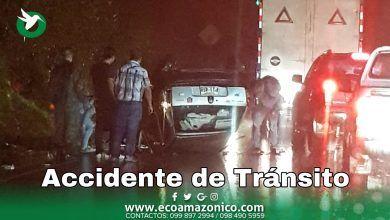 Accidente en la vía Puyo Baños