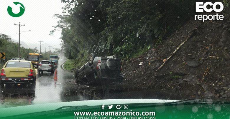 Accidente en la vía a Baños