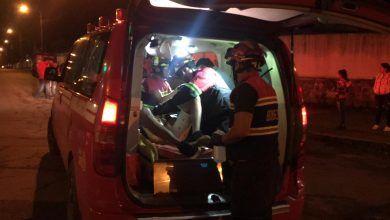 Accidente de tránsito de una persona herida