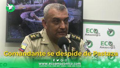 Coronel de Policía de Pastaza se despide