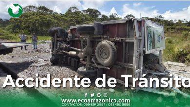 Accidnete de tránsito en Puyo