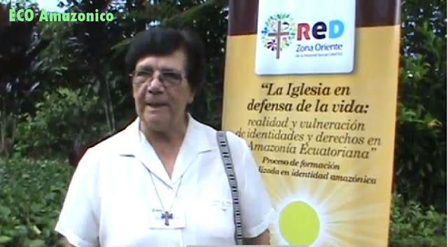 Hermana María 40 años trabajando por el sector indígenas de Pastaza