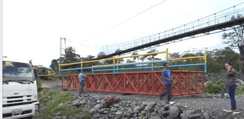 Puente en San José obra de la Prefectura de Pastaza