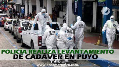 Se realiza levantamiento de un cadáver en el centro de Puyo