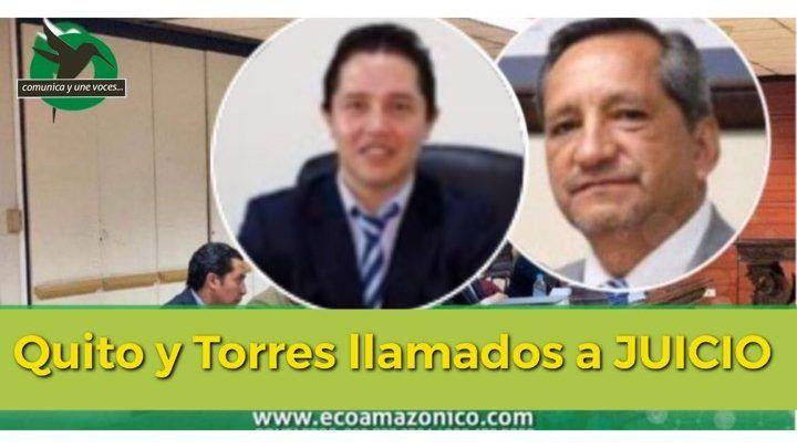 AURELIO QUITO Y BOLÍVAR TORRES LLAMADOS A JUICIO POR EL DELITO DE COHECHO
