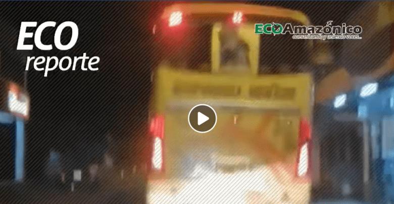 Denuncia en contra de una unidad de trasporte Expreso Baños