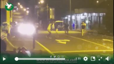 Grescas callejeras en la calle Teniente Hugo Ortiz y Cumanda