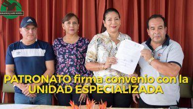 Patronato firma convenio la Unidad Especializada Puyo