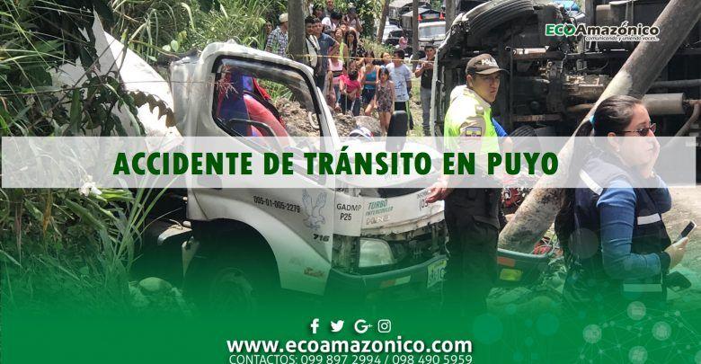 Accidente de tránsito en el sector de río Sandalias