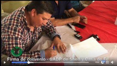 Gad de Shell firmó un convenio con la fundación casa de fe por más de $6.000