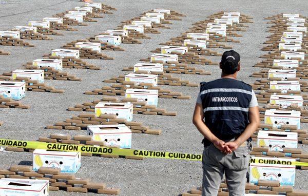 8 Toneladas de droga decomisas en Ecuador en lo que va del año