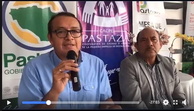 Firma de convenio entre la CACPE y la Prefecrura de Pastaza