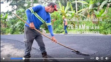 Inicia el asfaltado de 26.5 km de la vía Arajuno-Shiwacocha