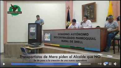 Piden al Alcalde de Mera que no se cree ninguna operadora de trasporte en este cantón